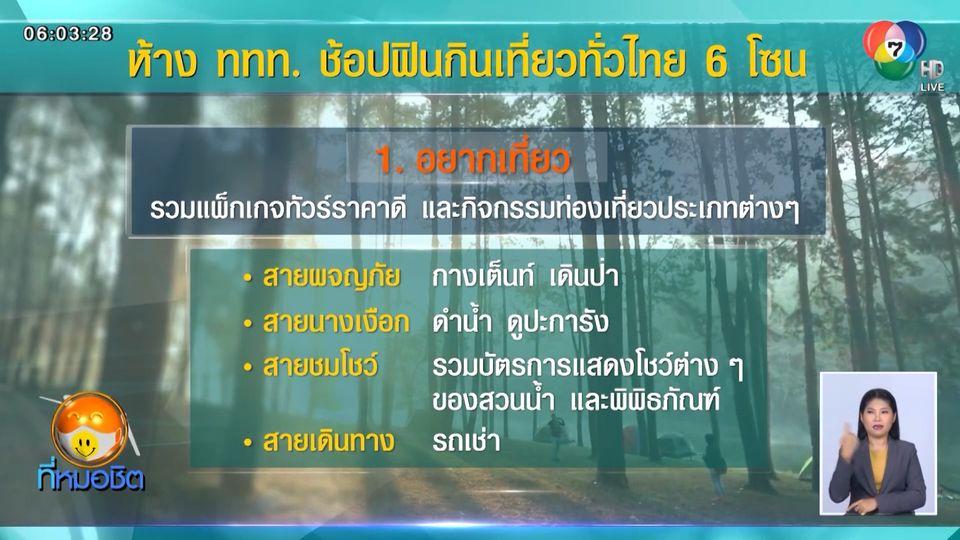 วันนี้เตรียมตัวช้อป ห้าง ททท. ช้อปฟินกินเที่ยวทั่วไทย ผ่านออนไลน์
