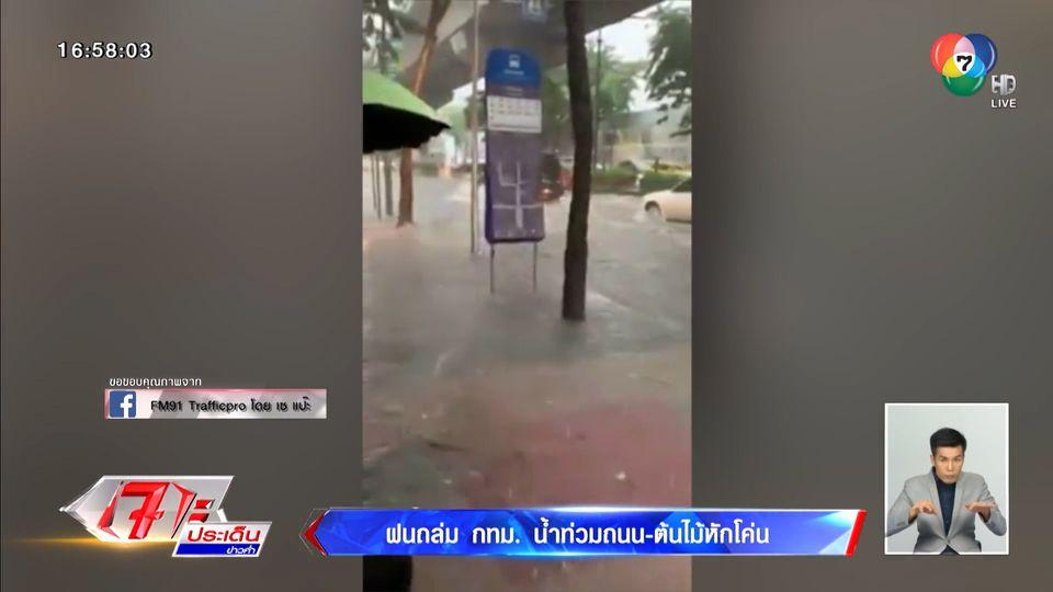 ฝนถล่ม กทม. น้ำท่วมถนน - ต้นไม้หักโค่น