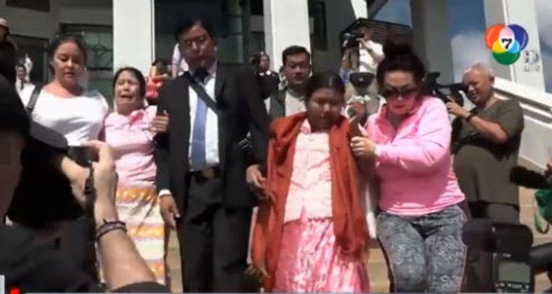 แห่ประท้วง คำตัดสินประหาร 2 พม่า พร้อมติดแฮชแท็ก #ShameOnThailand