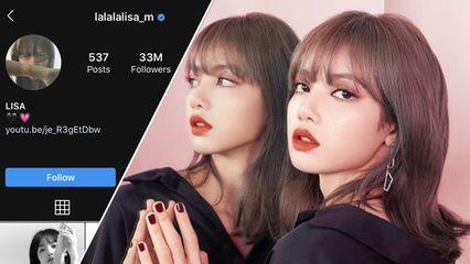 ลิซ่า BLACKPINK ยอดฟอลไอจีพุ่ง 33 ล้าน ครองเบอร์ 1 ไทย-เกาหลี