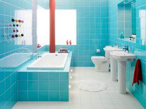 ไอเดียตกแต่งห้องน้ำสวยไบรท์ สวยสดใส สีสดจัด