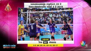ตบสาวไทย อัด ฮ่องกง 3 เซตรวด ลิ่ว 8 ทีม ดวลไต้หวัน ศึก U23 ชิงแชมป์เอเชีย