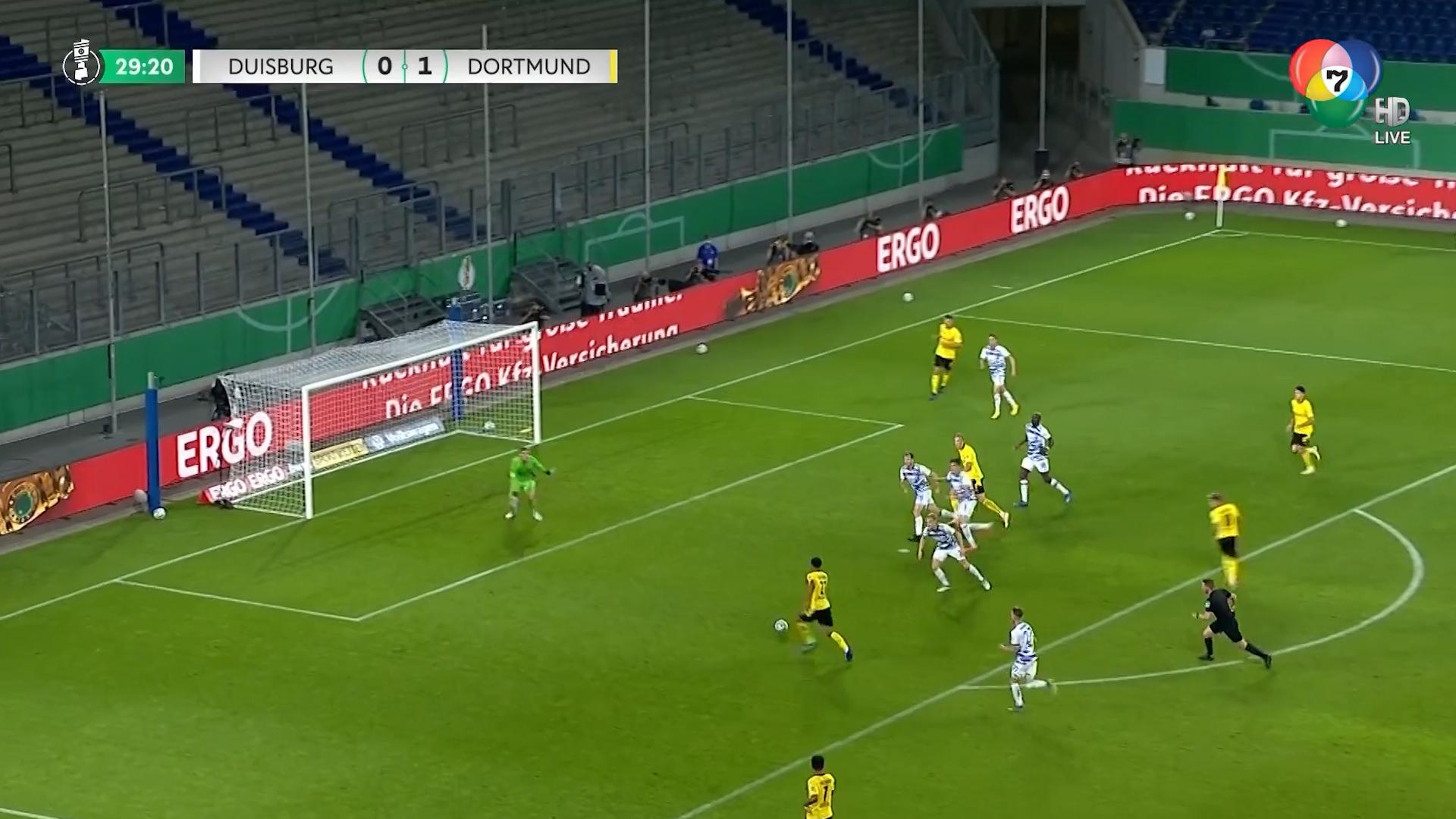 ไฮไลต์ฟุตบอลเดเอฟเบ โพคาล ดุยส์บวร์ก 0-5 โบรุสเซีย ดอร์ทมุนด์